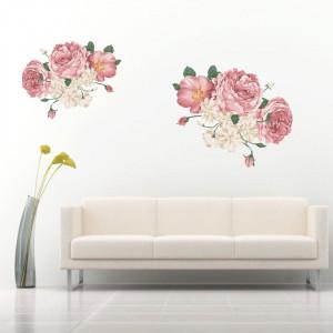 Sticker perete Bujori Roz si Mov