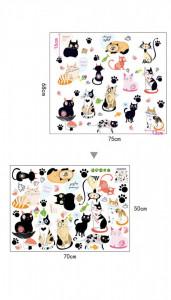 Sticker perete Cats Family