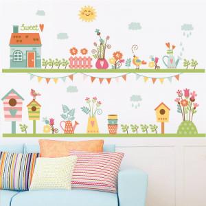 Sticker perete Flowers and birds