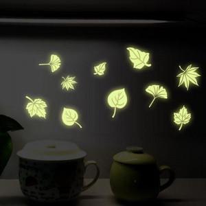 Sticker perete Glow in the Dark Frunze Stilizate