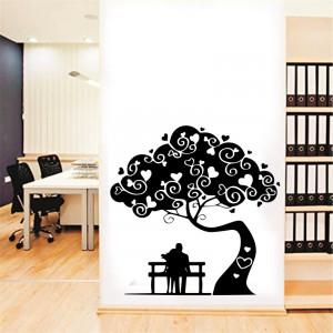 Sticker perete Love Tree Black