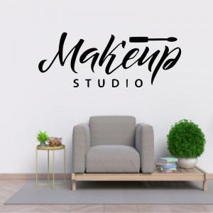 Sticker perete Makeup Studio