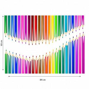 Sticker perete creioane colorate 5