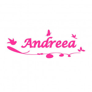 Sticker perete personalizat My Name Girl 1