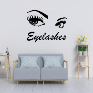 Sticker perete Salon Eyelashes 4