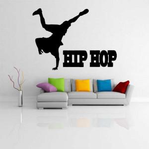 Sticker perete Silueta dansator hip-hop