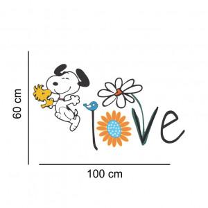 Sticker perete Snoopy - Love