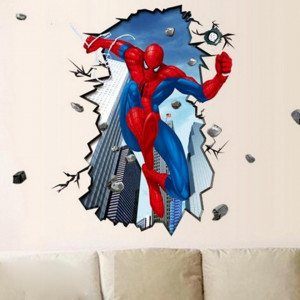 Sticker perete Spiderman 3D - Disney Marvel