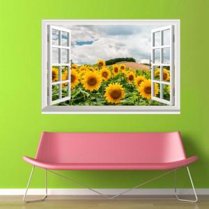 Fereastra Floarea Soarelui 3D 2