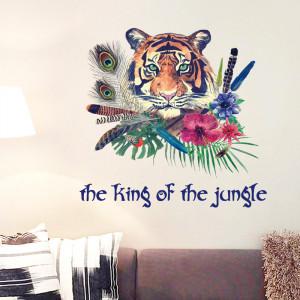 Sticker perete Tiger King of the Jungle
