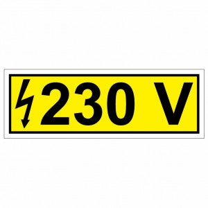 Eticheta priza 230V