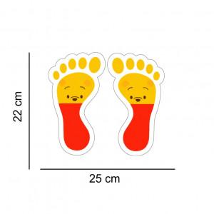 Set stickere podea Picioruse Winnie
