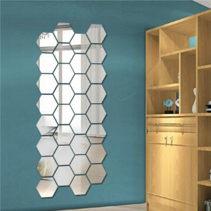 Sticker acrilic 3D Hexagon