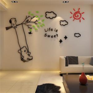 Sticker acrilic 3D Life is Sweet 200x136cm