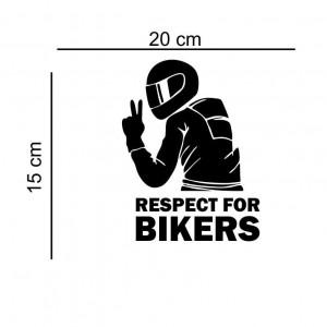 Sticker auto Respect For Bikers
