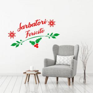 Sticker decorativ Sarbatori Fericite 1