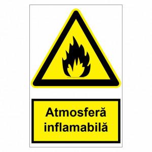 Sticker indicator Atmosfera inflamabila