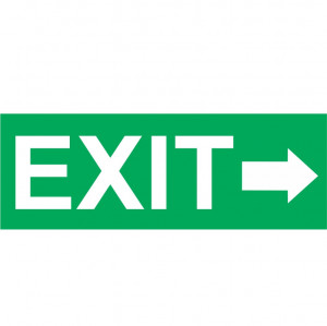 Sticker Indicator Exit la Dreapta