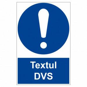 Sticker indicator Obligativitate generala text personalizat