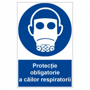 Sticker indicator Protectie obligatorie a cailor respiratorii 2