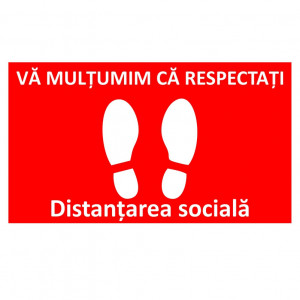 Sticker Indicator Respectati distantarea sociala