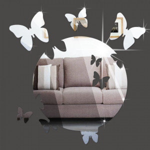 Sticker perete 3D Mirror Silver Moon