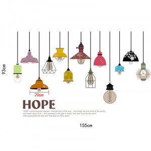Sticker perete Antique Lights 60x90cm