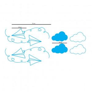 Sticker perete Avioane de Hartie