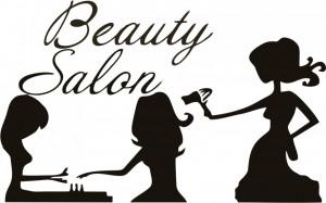 Sticker perete Beauty Salon