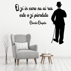 Sticker perete Charlie Chaplin - O zi pierduta
