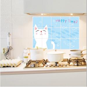 Sticker perete Cute Cat Kitchen Decor