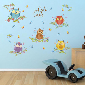 Sticker perete Cute Owls