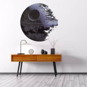 Sticker perete Death Star 3D