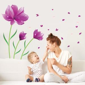 Sticker perete Dreamlike Purple Flower 60x90 cm
