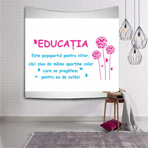 Sticker perete Educatia - Pasaport pentru viitor