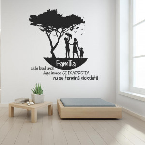 Sticker perete Familia Mea
