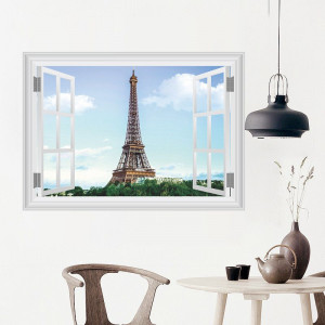 Sticker perete Fereastra Paris