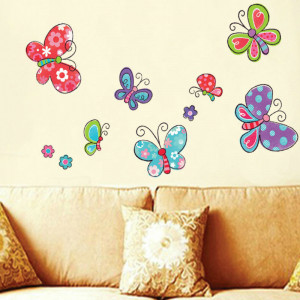 Sticker perete Happy Butterflies