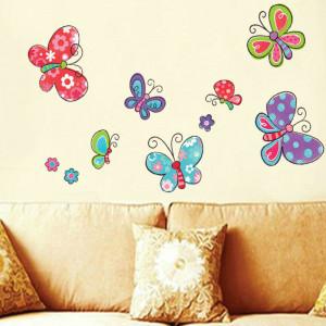 Sticker perete Happy Butterflies