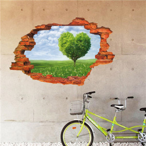 Sticker perete Love 3D 60 x 90 cm