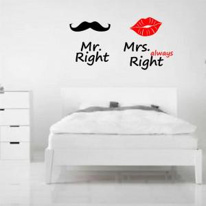 Sticker perete Mr and Mrs Right