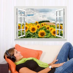 Fereastra Floarea Soarelui 3D 3