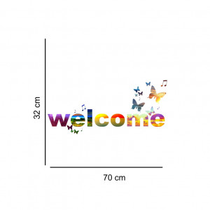 Sticker perete Welcome Multicolor