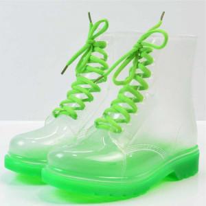 Ghete transparente Verde 38