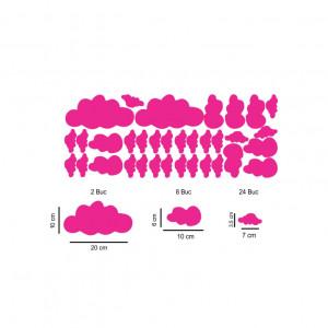 Set stickere perete Norisori Roz