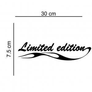 Sticker auto Limited Edition