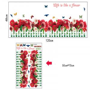 Sticker Bujori perete / geam