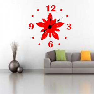 Sticker decorativ ceas Floare