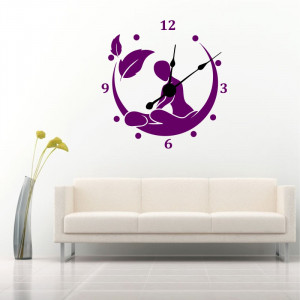 Sticker decorativ ceas Relax