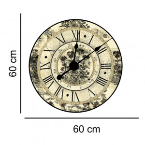 Sticker decorativ ceas vintage cu cifre romane